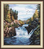 "Вышивка крестом ""Водопад. Кивач"" (290x350 мм)"