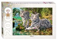 """Пазл """"Сколько тигров?"""" (2000 элементов)"""