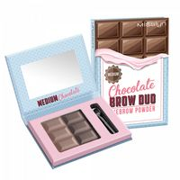 "Пудра для бровей ""Chocolate brow duo"" тон: 04, medium chocolate"