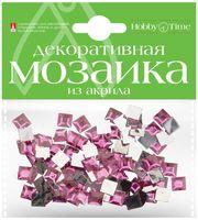 Мозаика декоративная из акрила №28 (8х8 мм; 100 шт.; фуксия)