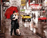 "Картина по номерам ""Поцелуй в Нью-Йорке"" (400х500 мм)"