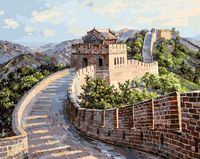 """Картина по номерам """"Великая Китайская стена"""" (400х500 мм)"""