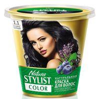 """Краска для волос """"Nature Stylist Color"""" тон: 1.1, иссиня-черный"""