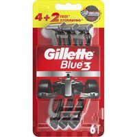 """Станок для бритья одноразовый """"Blue 3. Red"""" (6 шт.)"""