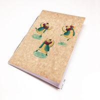 """Блокнот крафт """"Кот на коньках"""" (А7; арт. 457)"""