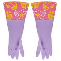 Перчатки кухонные с манжетой лиловые (арт. 29479)