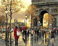 "Картина по номерам ""Осень в Париже"" (400х500 мм)"