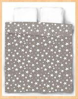 "Пододеяльник хлопковый ""Stars Grey"" (215х153 см)"