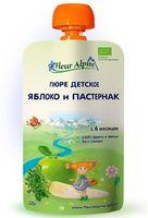 """Детское пюре Fleur Alpine Organic """"Яблоко, пастернак"""" (120 г)"""