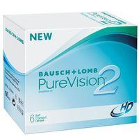 """Контактные линзы """"Pure Vision 2 HD"""" (1 линза; +2,0 дптр)"""