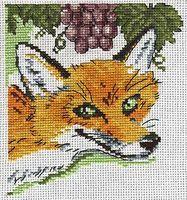 """Вышивка крестом """"Лиса и виноград"""""""