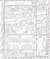 """Набор для рисования """"Огромная раскраска. Что скрывает холодильник?"""""""