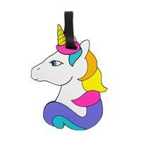 """Бирка на багаж """"Rainbow unicorn"""""""