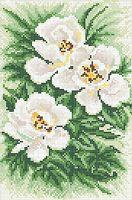 """Вышивка бисером """"Белые цветы"""""""