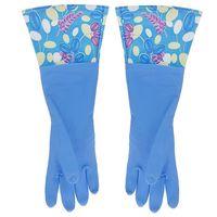 Перчатки кухонные с манжетой синие (арт. 29493)