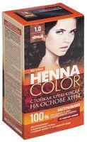 """Крем-краска для волос """"Henna Color"""" (тон: 1.0, черный)"""