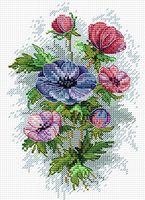 "Вышивка крестом ""Цветы осени"" (180х150 мм)"
