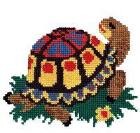 "Вышивка крестом ""Черепаха"" (130х150 мм)"