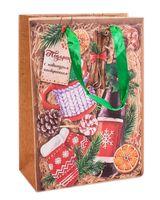 """Пакет бумажный подарочный """"Зимний набор"""" (18х23х8 см)"""