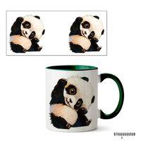 """Кружка """"Панда"""" (509, зеленая)"""