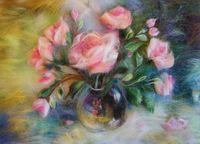 "Картина из шерсти ""Розы"""