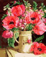 "Картина по номерам ""Букет цветов в кувшине"" (400х500 мм)"