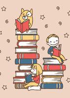"""Открытка """"Люблю читать книги"""""""