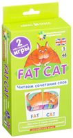 Fat Cat. Читаем сочетания слов. Набор из 48 карточек. Английский язык. 5 уровень