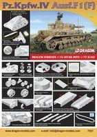 """Средний танк """"Pz.Kpfw.IV Ausf.F1(F)"""" (масштаб: 1/72)"""