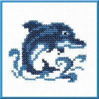 """Вышивка крестом """"Дельфин"""""""