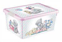 Ящик для хранения с крышкой (33,5x24х15,5 см; розовый)