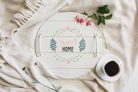 """Поднос деревянный """"Sweet Home"""" (350х350х40 мм)"""