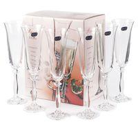 """Бокал для шампанского стеклянный """"Angela"""" (6 шт.; 190 мл; арт. 40600/190)"""