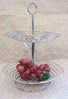 Подставка для фруктов металлическая двухъярусная (310х260х330 мм)