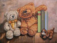 """Вышивка бисером """"Плюшевые медведи"""" (арт. 56019)"""
