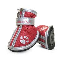 """Ботинки с """"лапками"""" (4х3х4 см; красные)"""