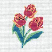 """Вышивка крестом """"Тюльпаны"""" (190х190 мм)"""