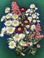 """Вышивка лентами """"Полевые цветы"""" (185х255 мм)"""