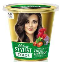 "Краска для волос ""Nature Stylist Color"" тон: 5.0, темно-русый"