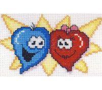 """Вышивка крестом """"Влюбленные сердца"""""""
