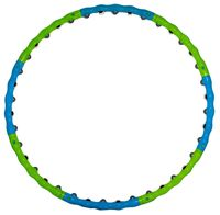 """Обруч массажный """"HH-105"""" (98 см; сине-зелёный)"""
