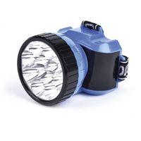 Аккумуляторный налобный фонарь 1ВТ + 8 LED Smartbuy (синий)