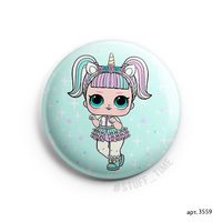 "Значок маленький ""Кукла LOL. Unicorn"" (арт. 3559)"