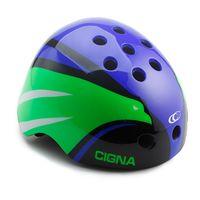 """Шлем велосипедный """"WT-025"""" (синий/зеленый/черный; арт. 6157)"""