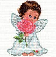 """Вышивка крестом """"Ангелок любви"""""""