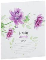 """Тетрадь в косую линейку """"Beauty in Flower"""" (12 листов; в ассортименте)"""