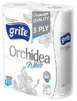 """Бумажные полотенца """"Orchidea White"""" (2 рулона; белые)"""
