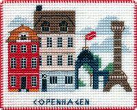 "Вышивка крестом ""Копенгаген"" (90х70 мм; на магните)"