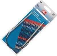 Спицы круговые для вязания (алюминий; 4 мм; 60 см)