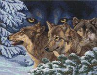 """Вышивка крестом """"Волчий взгляд"""""""